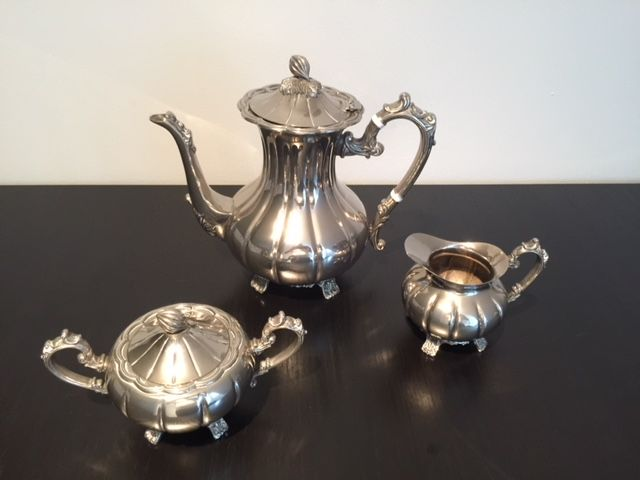 Coffee set - Set of 3 - Silver plated - unknown - United Kingdom - 1950-1999