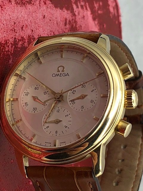 Omega -  DeLuxe /Chronograph/Cal 861 18K(0750)Yellow Gold - 48301594 - Hombre - 1980-1989