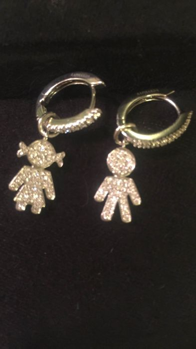 Crivelli earrings in white gold with diamonds