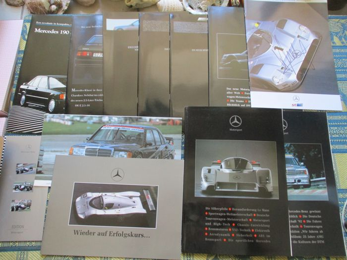 Brochures / catalogues - Mercedes sport - 1984-1993 (12 items)