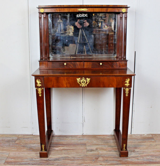 Lady desk - dress table in mahogany in Empire style, France, late 19th century