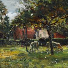 John Reed Murray (1861-1906) - Cattle in an orchard