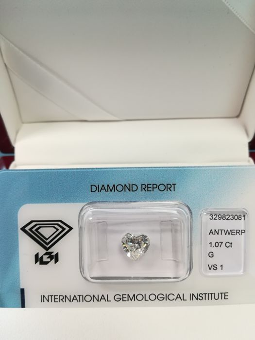 Natural Diamond - Heart Brilliant - 1.07 ct - G/VS1