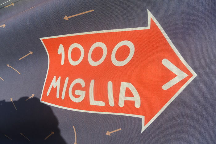 Large format advertising band - Mille Miglia 2018 - 2018-2015