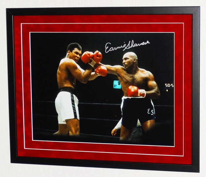 Earnie Shavers original signed photo - Premium Framed + Certificate of Authenticity