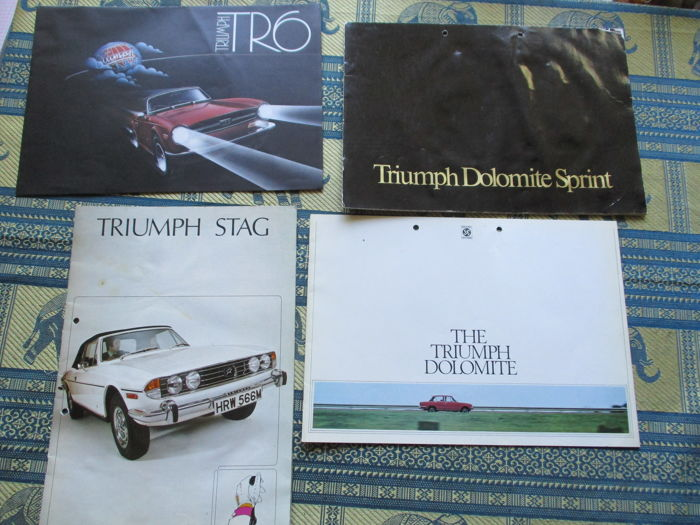 Brochures/ Catalogues - Triumph Dolomite/Sprint/Stag/heritage - 1975-1992 (4 items)