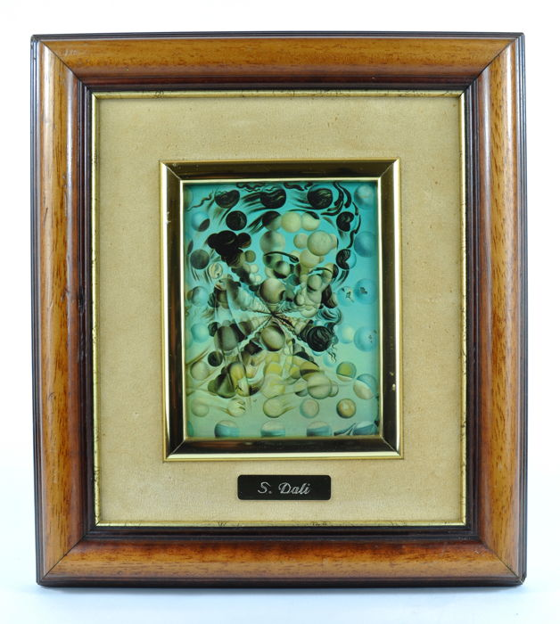Six enamel plaques with Salvador Dalí artworks - 1970's
