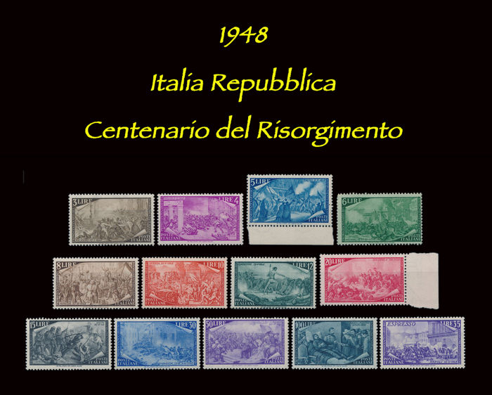 Italy Republic 1948 - Centenary of the Risorgimento - Sassone N. S 136