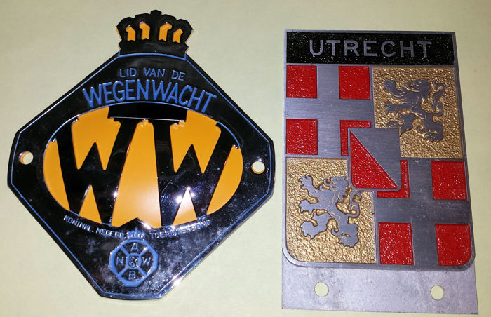 Emblem/Mascot - WW (klassiek) en Provincischild Utrecht (2 items)