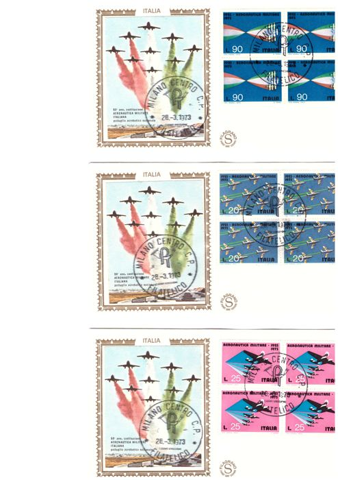 Italy Republic 1962/1979 - Lot of 240 FDC, Filagrano Gold, Rome and Venice envelopes