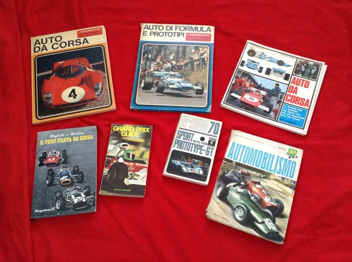 Books - Motor Racing F.1 Miscellany Books  - 1963-1972 (7 items)