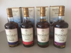 4 bottles - Macallan Travel Series 20´s 30´s 40´s and 50´s 4x 50cl