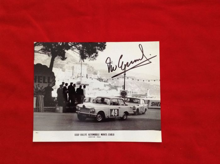 Photos  - rare 3 Elford Collection signed Rally Montecarlo  - 1962-1963 (3 items)