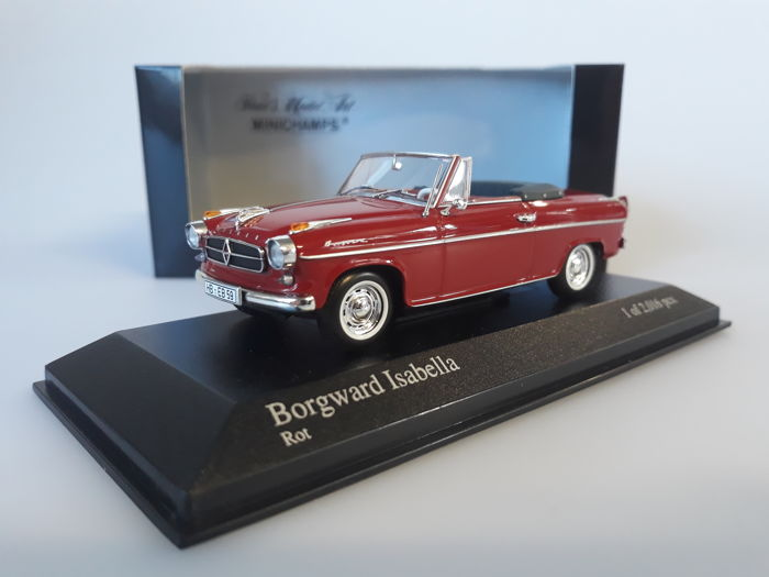 MiniChamps - 1:43 - Borgward Isabella Cabriolet 1959 - Limited Edition or 2.016 pcs.