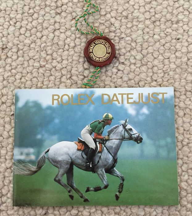 Rolex lot of 2 items: Datejust booklet and red tag