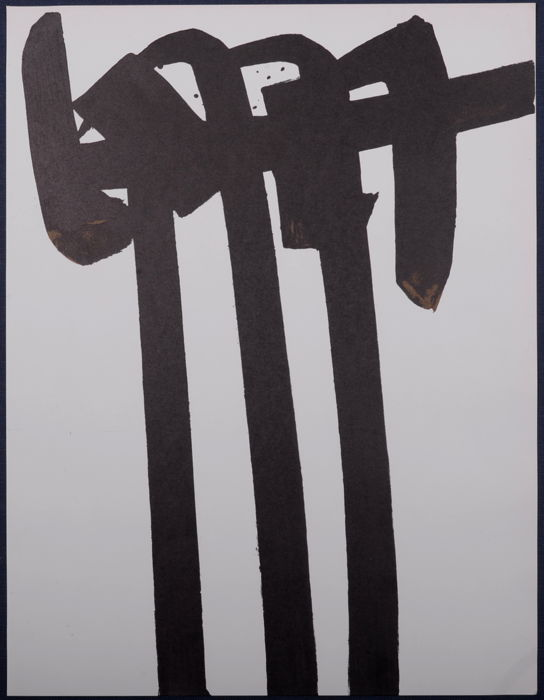 Pierre Soulages - Lithographie n°28