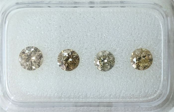0.80 tcw - Natural Fancy Diamonds  - Greenish Yellow Color - I1-I2 - NO RESERVE!