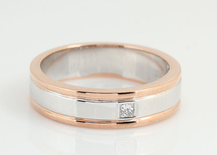 14 kt. Pink gold, White gold - Ring