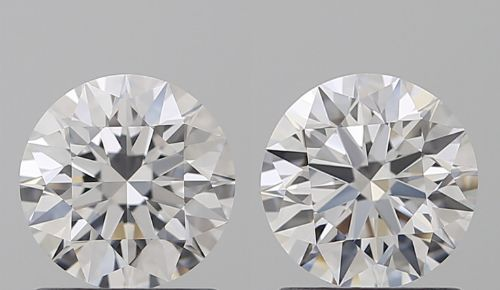 Pair of Round Brilliant Diamonds 2.01ct total D IF 3EX with IGI - Sealed -Original Image-10X - Serial#01-03