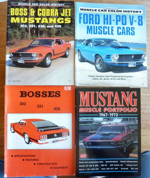 bücher - ford mustang muscle cars 1967-1973 - 1994-2001 (4 objekte