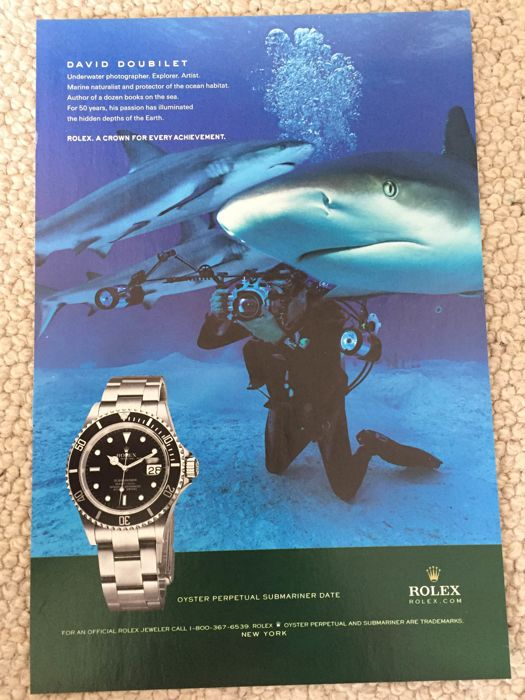 Rolex rare and important vintage ad 1980's
