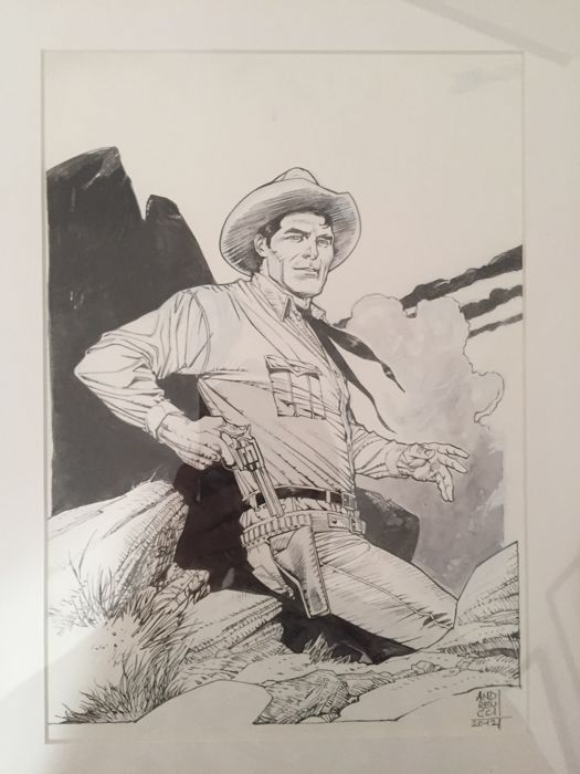 Tex - Stefano Andreucci - original illustr. - 散頁 - (2012)