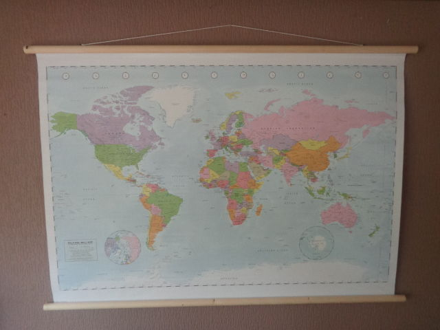 Beautiful Map Of The World.Beautiful World Map With Pastel Colors Paper Catawiki