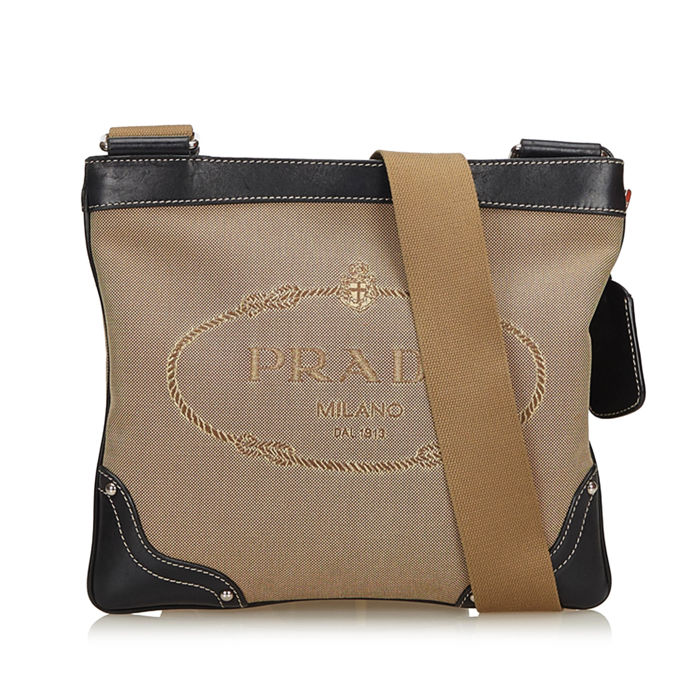 6a652e3e2ec4 Prada - Canapa Canvas Crossbody Bag - Catawiki