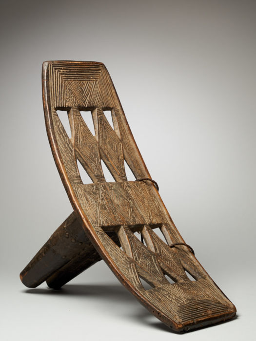 Decorated Backrest- Mgombe people, DRC