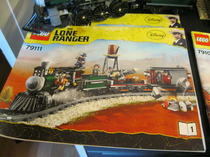 Assorti - Long Ranger 79109 + 79111 - Colby City Showdown + Constitution train chase