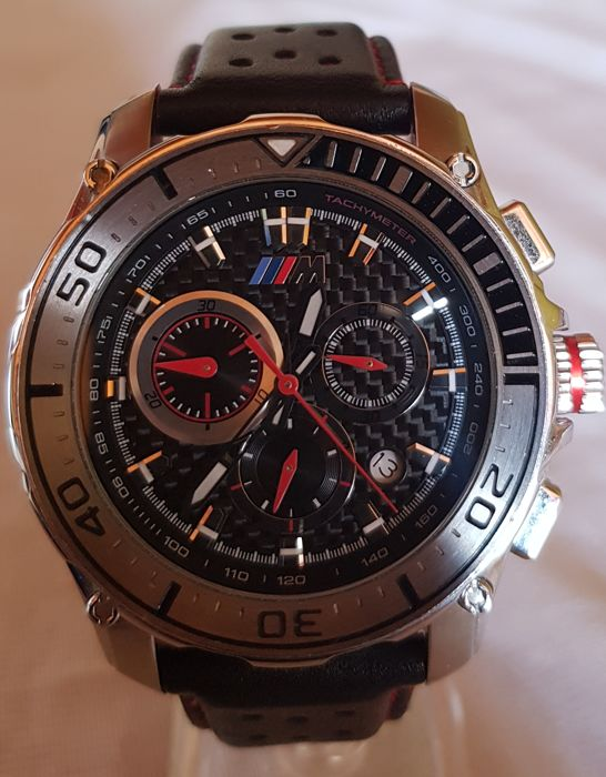 bmw m carbon watch chronograph for men made in. Black Bedroom Furniture Sets. Home Design Ideas