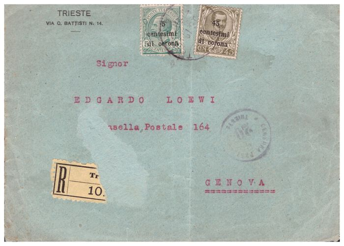 italy kingdom 1919/1944 - selection of 39 letters and postcards with