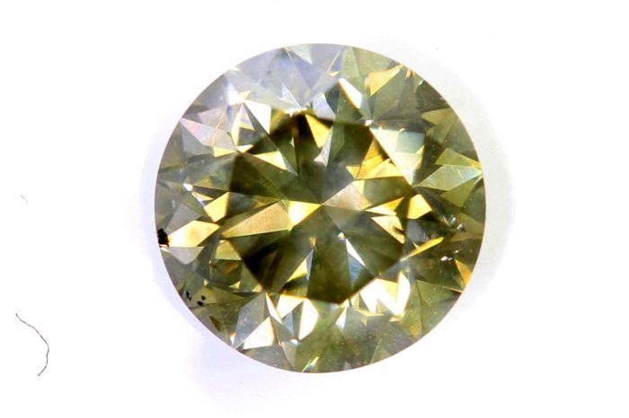 AIG Diamant - 1.15 ct - Fancy Greenish Yellow , SI1