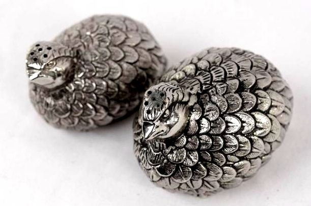 Salt and pepper silver plated shakers signed by GUCCI - Italy - 1950-1999
