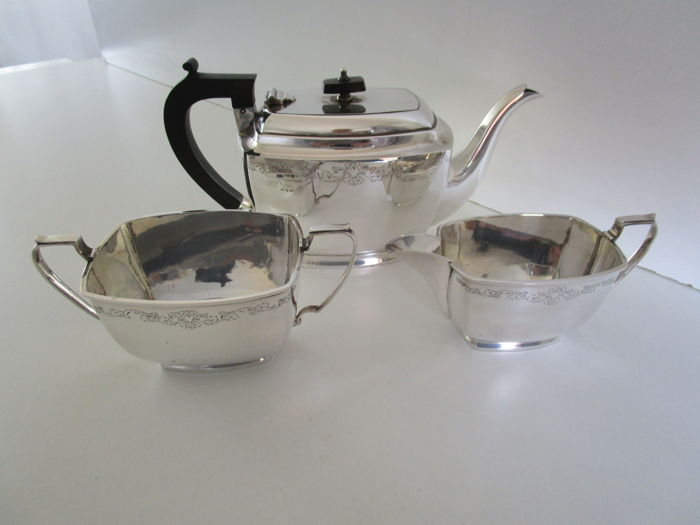 Driedelige theeset - ca 1920 - England - Silver Plated