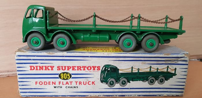 Dinky Toys - 1:50 - nr 905 Foden Flat Truck with Chains - Supertoys Meccano