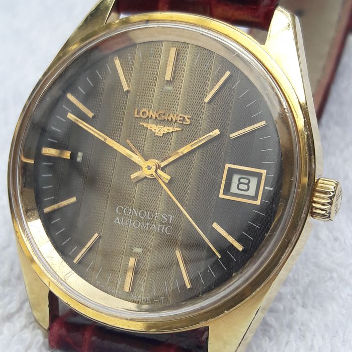 Longines - Conquest date unique gold textured dial cal. 633.1 - 1570-2 633 - Mężczyzna - 1972