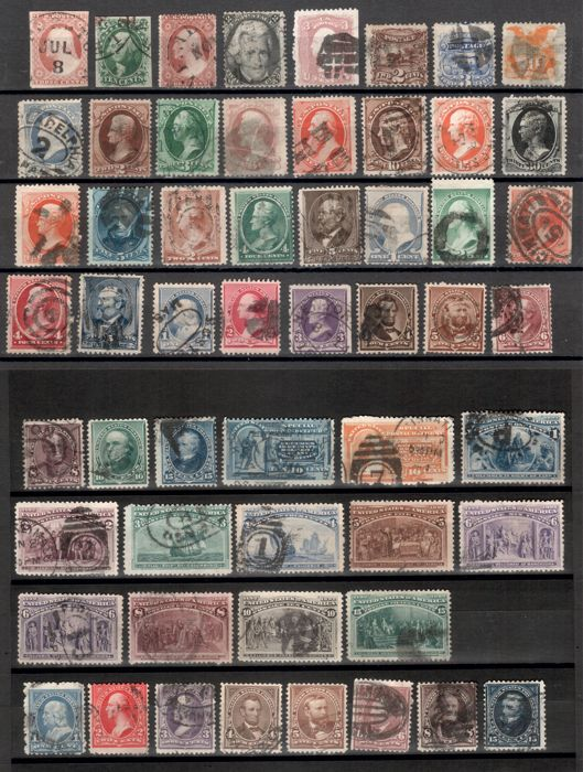 United States of America 1851/1925 - Classical and Semiclassic, 130 different