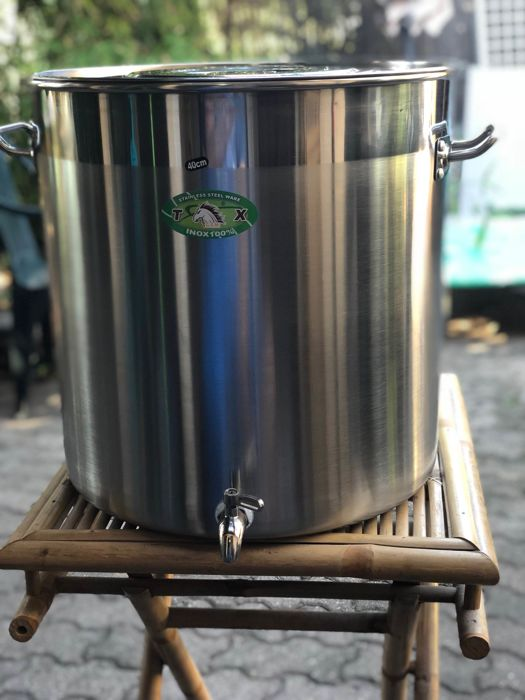 marmiton - vat mixing tank - Steel (stainless) 50 liters + faucet - Steel (stainless)