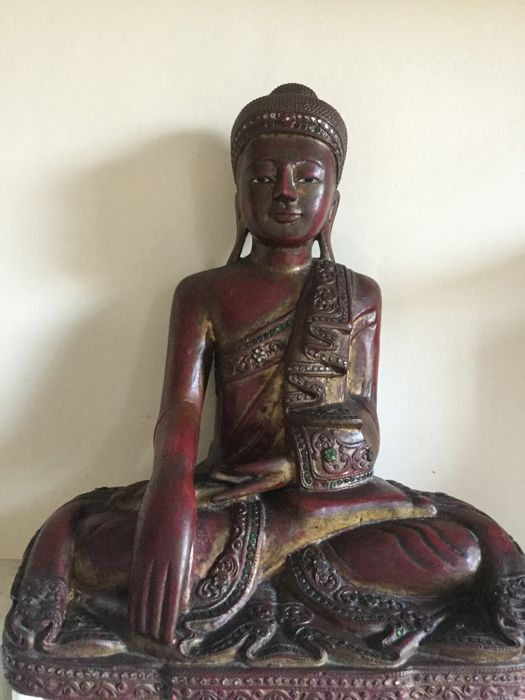 Buddha in Thai Wood - Thailand - Second half of the 20th century