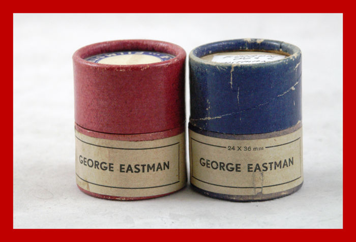2 beautiful film strips by GEORGE EASTMAN Kodak