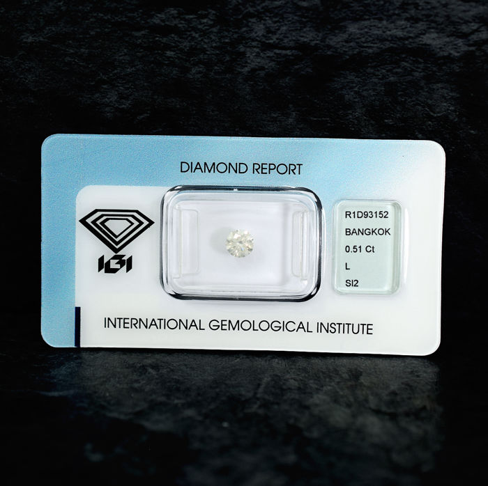 Diamond - 0.51 ct - Briliant - L - SI2