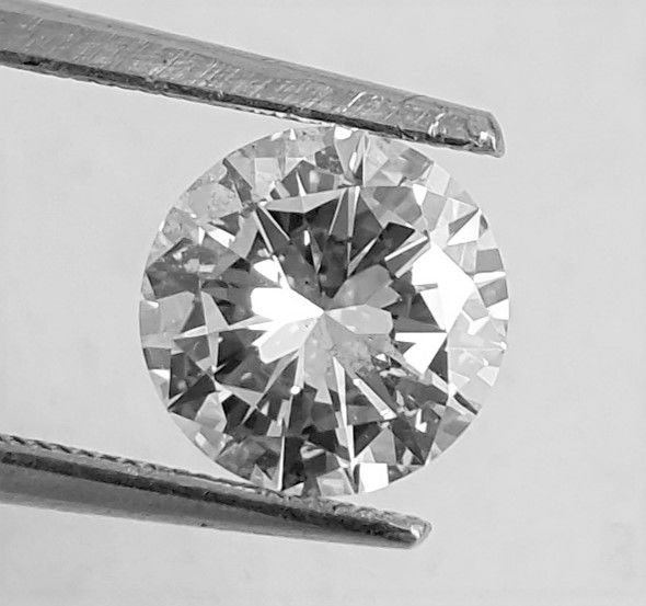 1.60 ct - D / VS1 - Natural Brilliant Diamond  - AIG Certificate + Laser Inscription On Girdle