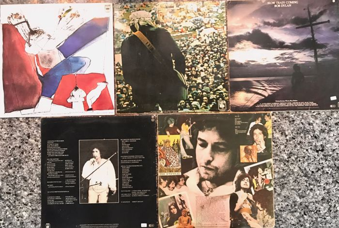 5 Lps  Bob Dylan: Desire, Hard Rain, Slow Train Coming