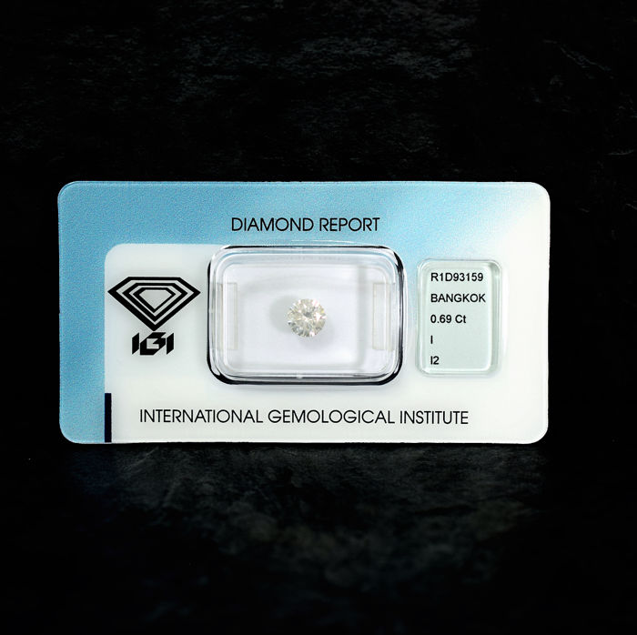 Diamond - 0.69 ct., I / I2