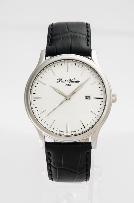 Paul Vallette  - Tradition Stainless steel men's watch - PV150212-SS-03 No Reserve Price - Herre - 2011-nå