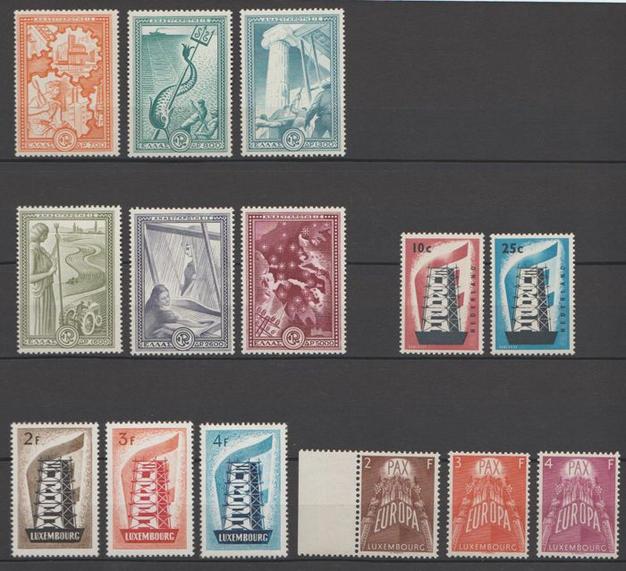 United Europe 1951/1957 - Selection - Michel 582/587 + 683/684 + 555/557, 572/574