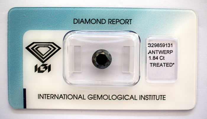 Black Diamond 1.84 CT with IGI certificate***No minimum price***