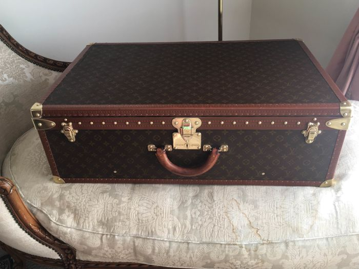 louis vuitton alzer 80 koffer vintage catawiki. Black Bedroom Furniture Sets. Home Design Ideas