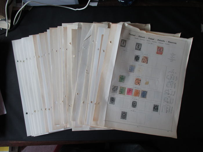 Finland 1957 - classic collection on separate sheets